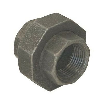 "1"" BLACK MALLEABLE IRON UNION fitting pipe npt"