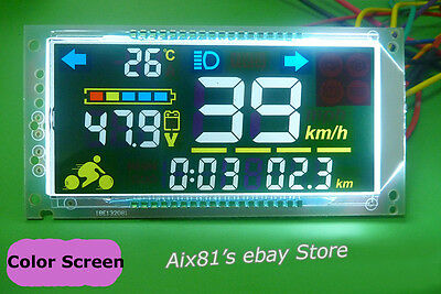 Electric Bicycle Car 48V60V Multifunction Voltmeter Thermometer Speedometer Mode