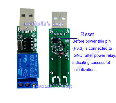 DC5V USB Relay Module Computer PCCommand Smart Monitor Switch Controller Board Y