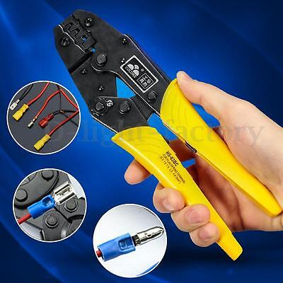 Crimper Crimp Pliers 0.5-6 mm² Crimping Tool Cable Ratchet plug Spring Terminal