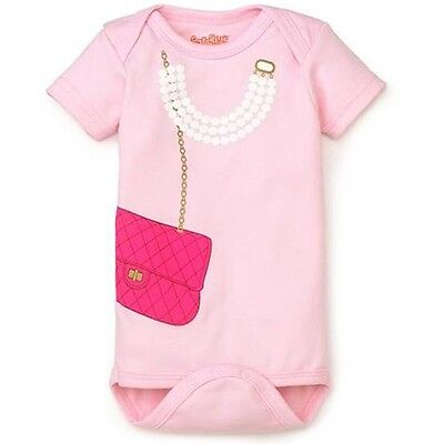 Hot Fashion Baby Party Girls Love Milk Pinkie & Purse Birthday Outfit Romper