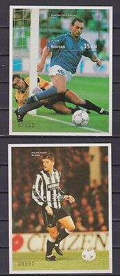 s7115) BHUTAN 1997 MNH** WC Football'98 - CM Calcio S/Sx2