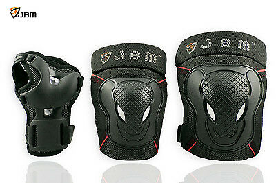 JBM Elbow Knee Wrist Pads Protective Guard Safety Gear Pads Skate Teens/Youth