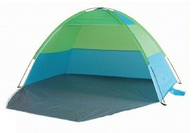 MONODOME TENT EASY UP 2.1m BLUE & GREEN FISHING BEACH SHELTER ZIP UP DOOR TY8432