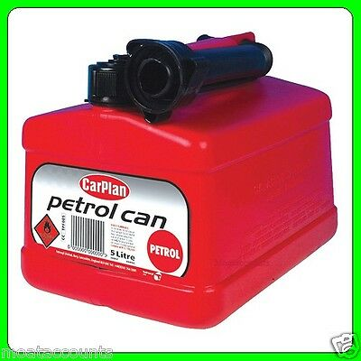 5Lt Red Plastic Fuel Can With Pouring Spout [TPF005] Tetrosyl