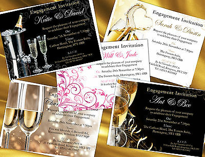 Personalised Engagement Party Invitations Qty 100