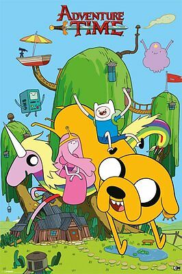 Adventure Time House Cartoon Network 91.5 X 61Cm Poster New Official Merchandise