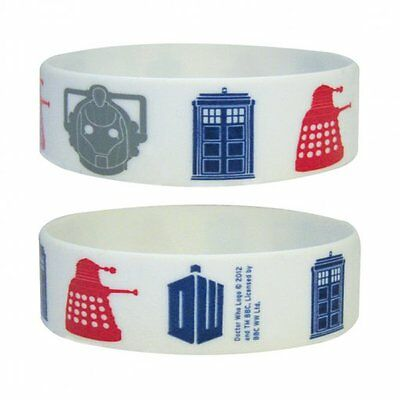 Doctor Who Icons Rubber Wristband Top Quality 100% Official New