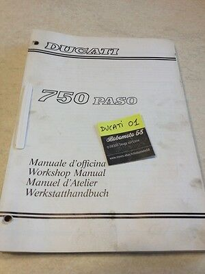 Ducati 750 PASO manuel atelier revue technique workshop service manual