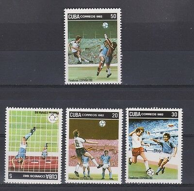 s5652) 1982 MNH* World Cup Football 1982-Campionati Mondiali Calcio 4v.