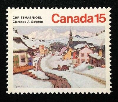 Canada #653 MNH, Christmas - Laurentian Village Stamp 1974