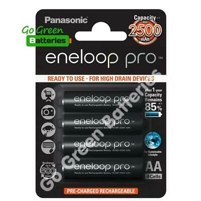 4 x Panasonic eneloop pro AA 2500 mAh Rechargeable Batteries ready NiMH, HR6