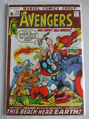 Avengers Vol. 1 (1963-2004) #93 FN/VF UK Price Variant Neal Adams Art