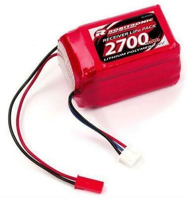 Robitronic LiPo 7,4V, 2700mAh, 2/3A Hump Size, Empfängerpack (EH) / R05202
