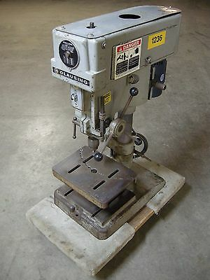 """Clausing 16SC 15"""" Bench Top Drill Press,5 Speed Step Pulley, 3/4HP, Single Phase"""