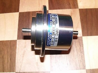 OGURA OPC-10 ELECTROMAGNETIC PARTICLE CLUTCH 24 volt DC 7mm Shaft