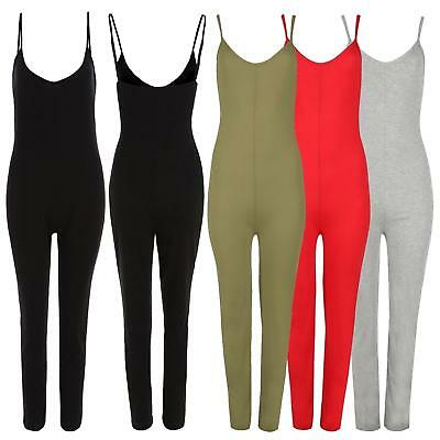 New Ladies Cami Strappy Jumpsuit Dress 8-14