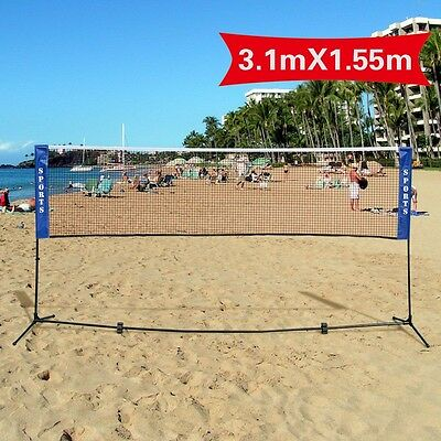 Beach Volleyball Frame Stand with Net Badminton Outdoor Games Sports Carry Bag
