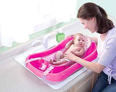 Infant Newborn To Toddler Tub w Sling Baby Bath Seat Girl Shower Bathing Nursery