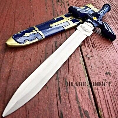 "12"" Legend of Zelda Hylian Hyrule Ocarina of Time Master Sword Short Dagger Blue"