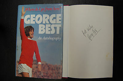 George Best  Signed Book 'where Do I Go From Here' Hardback Manchester United