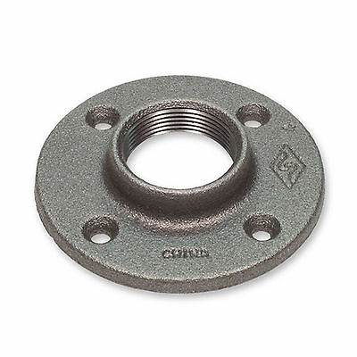 "1/4"" BLACK MALLEABLE IRON FLOOR FLANGE fitting pipe npt"