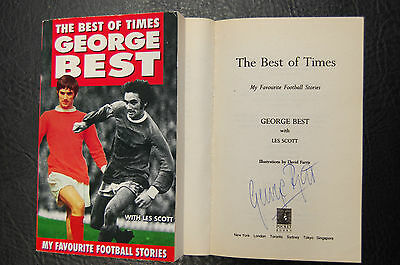 George Best  Signed Book 'the Best Of Times' Softback Manchester United