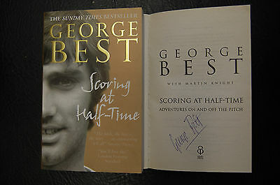 George Best  Signed Book 'scoring At Half Time'  Softback Manchester United
