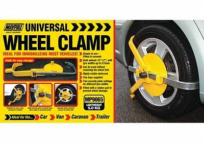 """Maypole Security - Wheelclamp 13""""-17"""" 215mm Max Tyre Width - MP9065"""