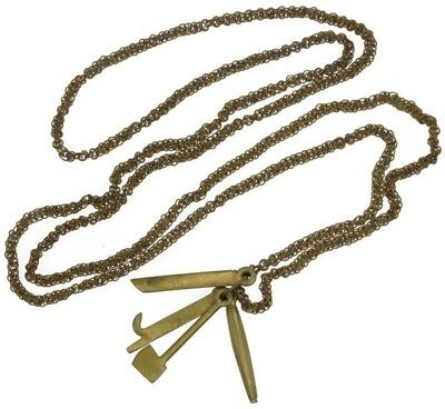 African Ashanti Brass Suman Necklace Charms Jewelry