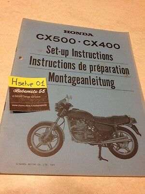 Honda CX500C CX 500 400 C CX400C Custom instruction preparation setup manuel