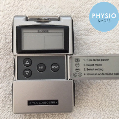 PHYSIO COMBO STIM+ Tens MACHINE 2 in 1unit Tens / Muscle stim, 4 + 4 bonus pads