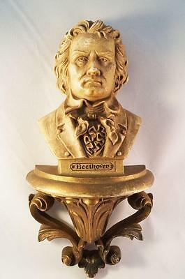 Vintage Burwood Home Interior Bach Beethoven Wall Plaques