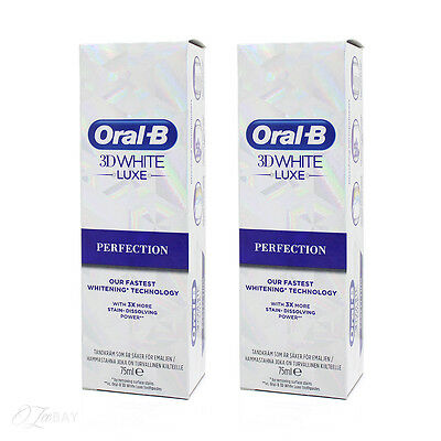 Oral B 3D Blanc Luxe Perfection Dentifrice 75ml x2