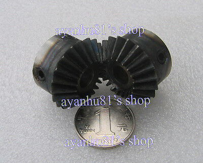 Hot 1 pair Bevel Gear Metal Gear 90 °1:1 1.5M20T Modulus:1.5 Teeth:20 Bore 8mm