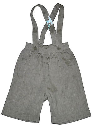 Marie Chantal Linen Blend Pale Muted Green Suspender Shorts Various Sizes NWT