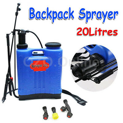 20L Pressure Backpack Knapsack Water Sprayer Garden Farm Pump Spray Weed Killer