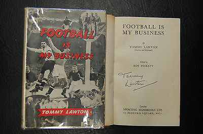 Tommy Lawton  Signed Book 'football Is My Business' Hardback Everton