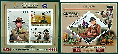 Boy Scouts Scouting Jamboree Baden-Powell Benin MNH stamp set 3val and s/s
