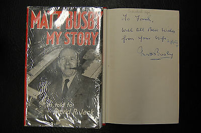 MATT BUSBY  SIGNED BOOK 'MY STORY By David Jack' HARDBACK MANCHESTER UNITED