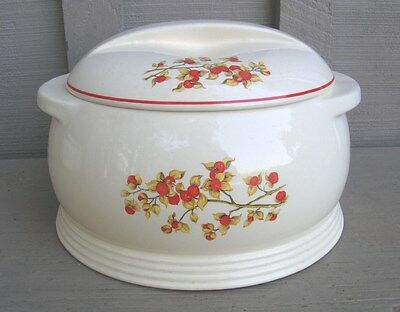 Old Vintage 1940's Universal China Bitter Sweet 2.25 Qt. Covered Round Casserole