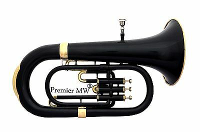 MEMORIAL DAY  SALE Premier MW PROFESSIONAL BLACK + GOLDEN  Bb EUPHONIUM+ HC