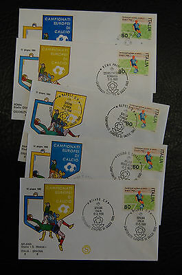 1980 European Championships Italian Football Postal Cover Set Of 15