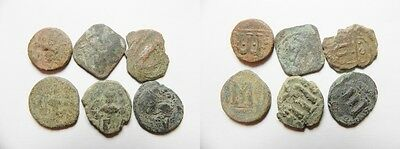 ZURQIEH -mk2862- LOT OF 6 ARAB-BYZANTINE AE COINS
