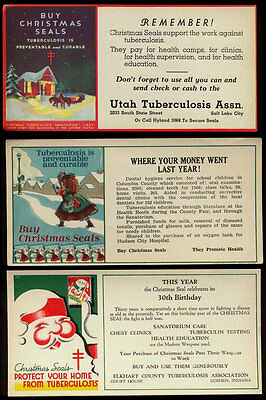 1934-1936 US Christmas Seals Package Inserts