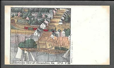 Unused American Civil War Patriotic Cover Alexandria VA Cachet *CW5