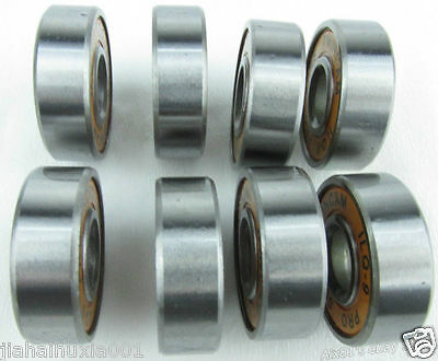 8PCS Stainless Steel Inline Skate Skateboard Bearings fit für ABEC-9 608RS ILQ-9