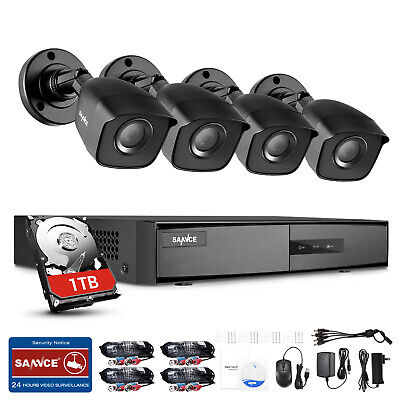 SANNCE 8CH 1080N HDMI DVR Outdoor 1080P HD Video CCTV Security Camera System 1TB