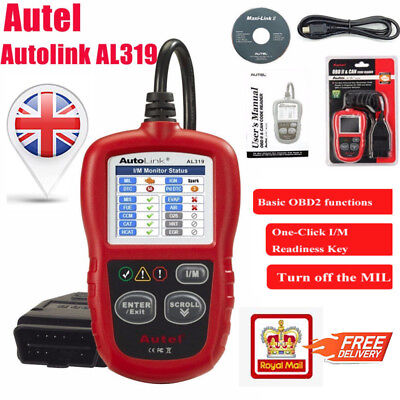 AL319 OBDII/EOBD Vechicle Code Reader Indicator Machine DIY Diagnostics Car CD