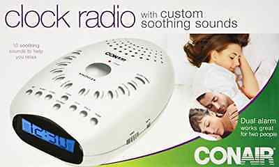Soothing Sounds Relaxation Clock Radio White Noise Portable Nature Sleep Machine